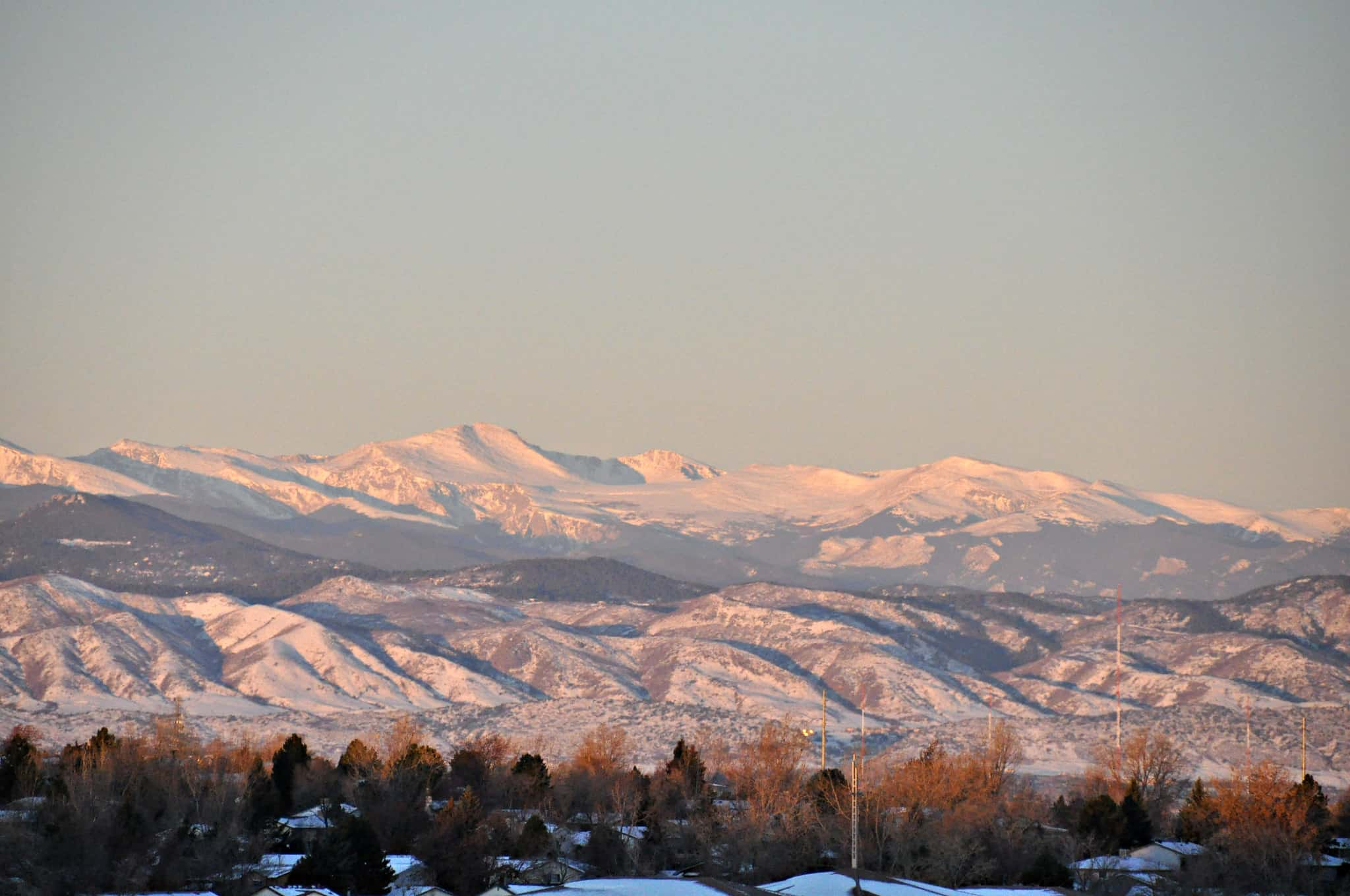 Littleton with mountains in background