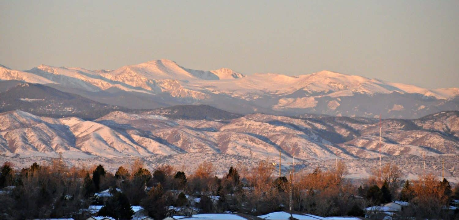 A view of the Rockies from Littleton, CO
