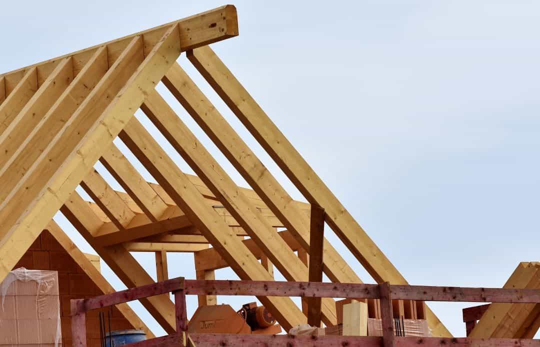 a roof's trusses in Denver